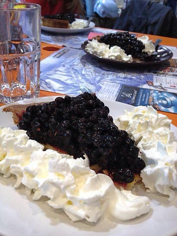 bosbessentaart tarte aux myrtilles Franse Alpen