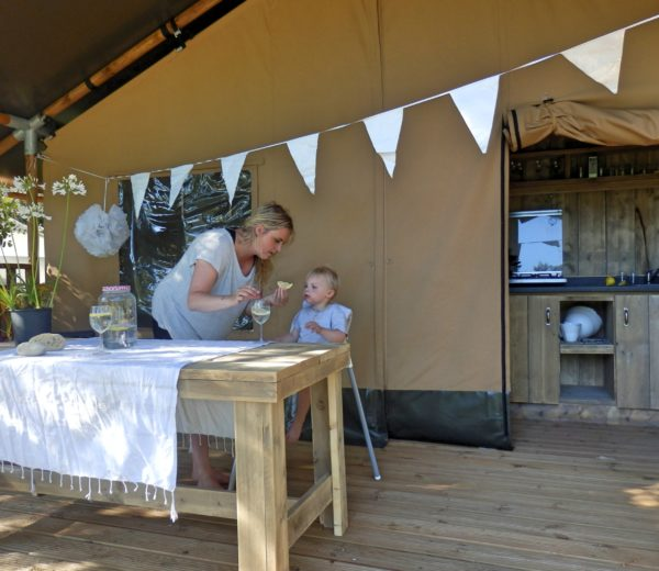 Glamping Tendi in Safaritenten in Frankrijk