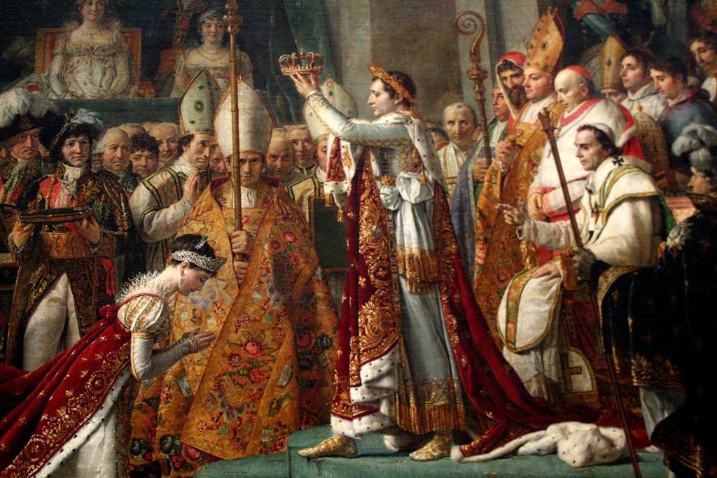Napoleon in het Louvre