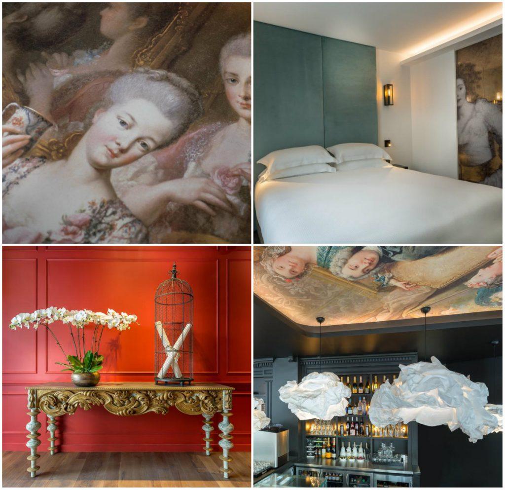 Parijs romantisch Hotel la Comtesse Eiffeltoren