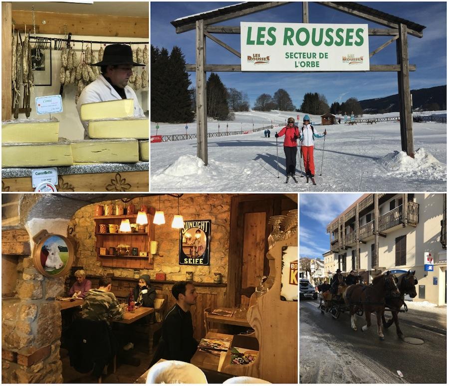Winterbestemming Les Rousses Jura Frankrijk