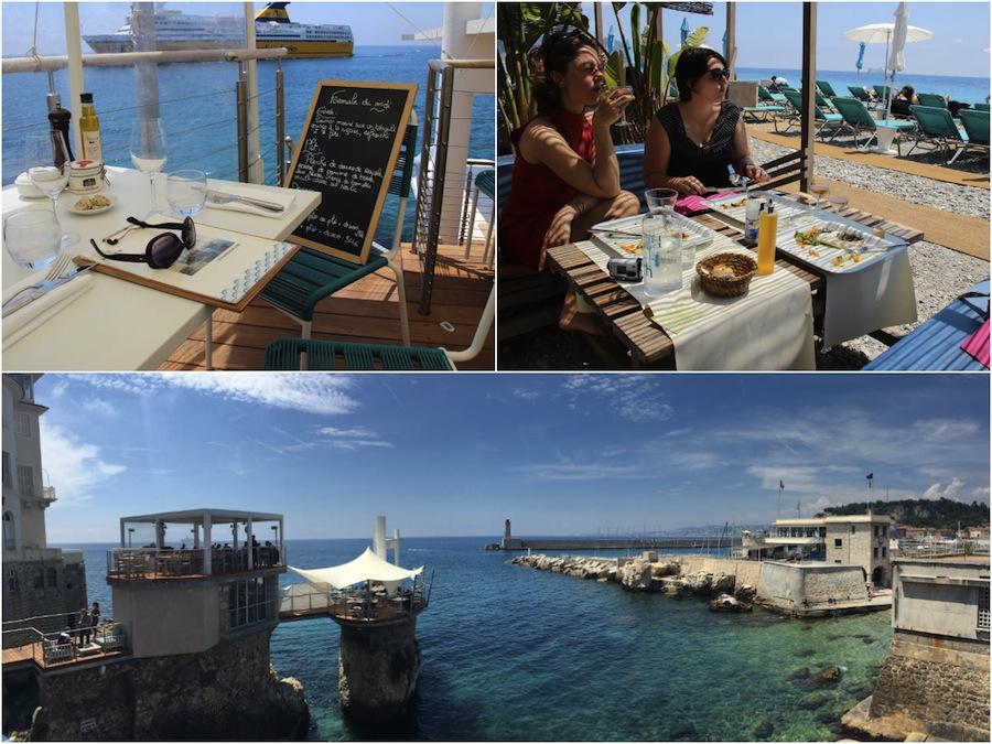 Lunchen op of aan het water in Nice