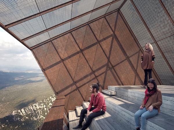 Tip Box uitzichtpunt bij Montpellier architect