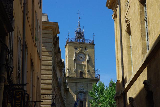 Terrasje pakken op Place de l'Hôtel de Ville