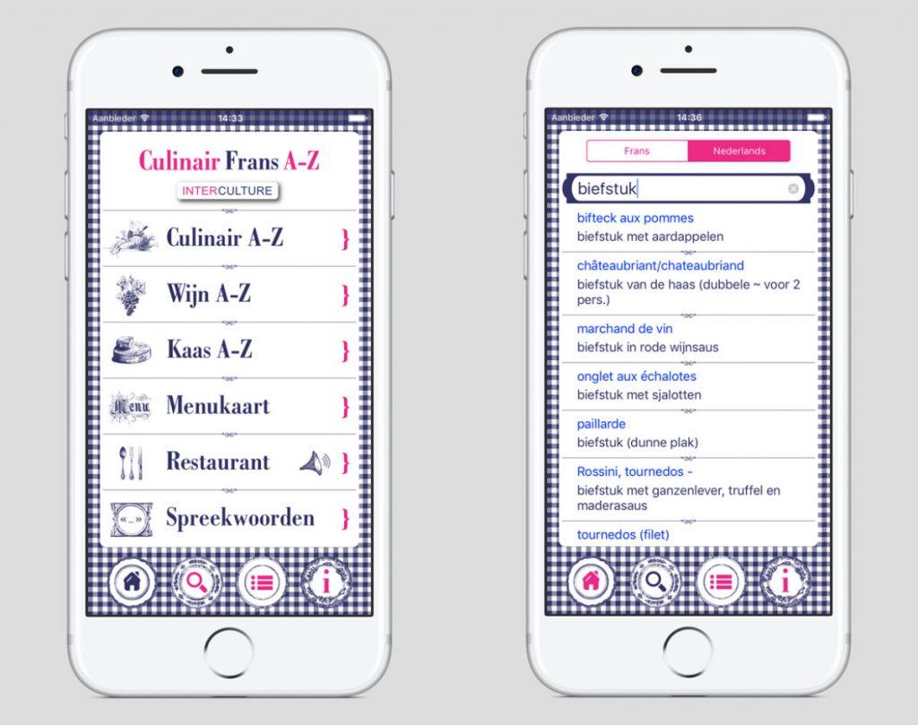 Franse taal app Interculture Culinair Frans