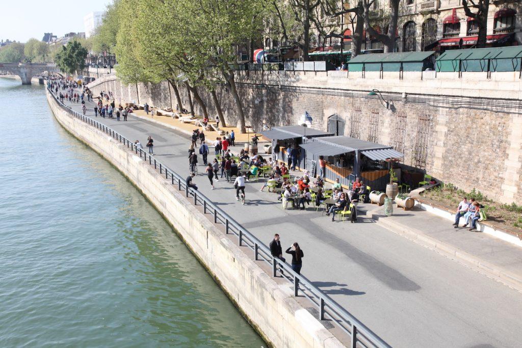 Parijs Park oevers Rives de Seine
