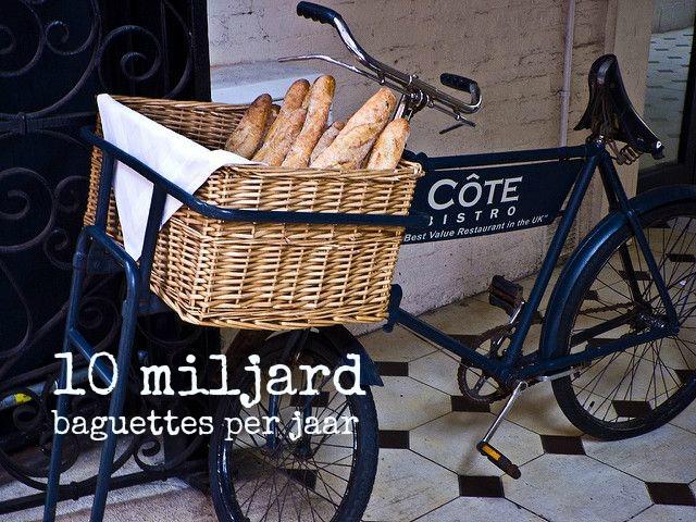 Franse cijfers stokbroden eten