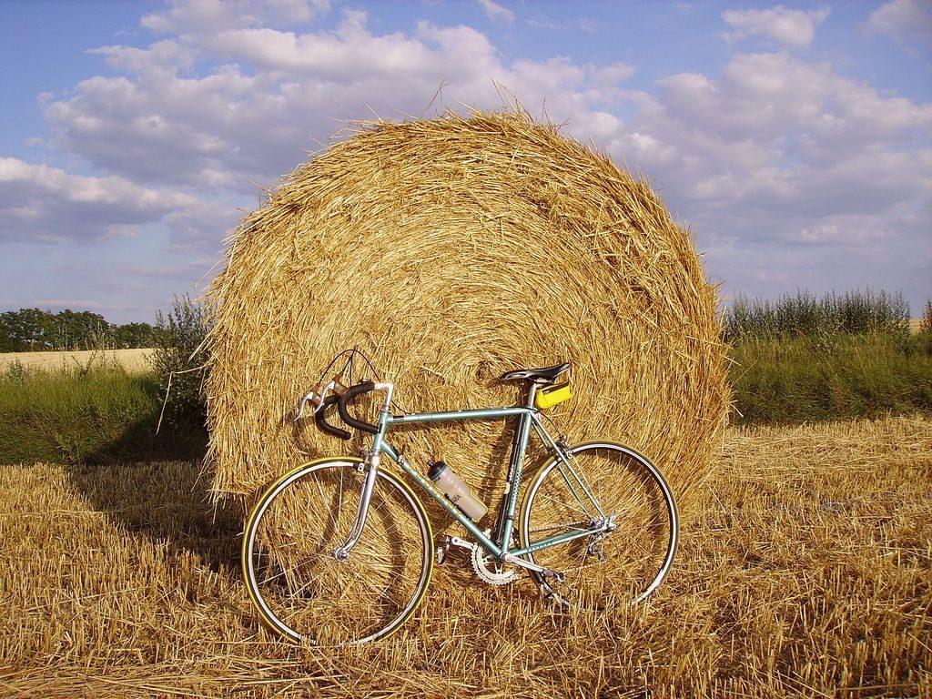 Fietsen in de Bourgogne platteland jaagpaden