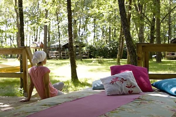 sfeervolle coole rustieke camping Les Ormes