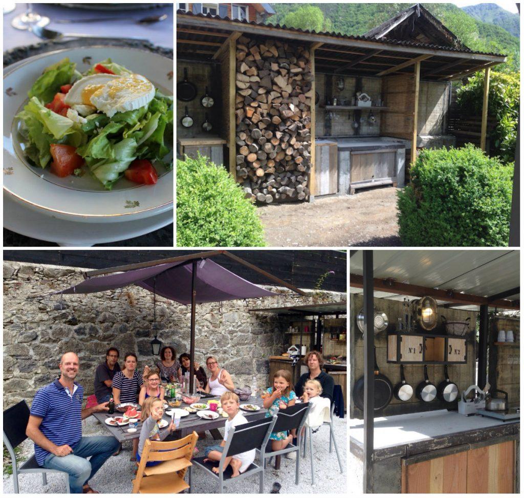 Chateau Serre Barbier vakantieadres Pyreneeen B&B tables d hotes buitenkeuken