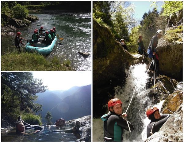 Geweldige canyoningtocht, klim-, mountainbike- of raftingavontuur