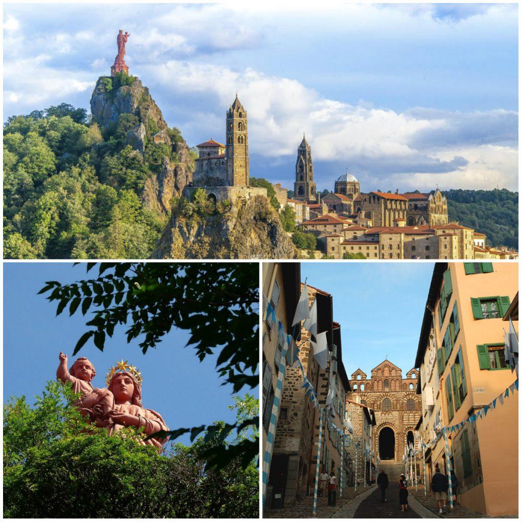 Auvergne Haute-Loire rotsen kathedraal monumenten Puy-en-Velay