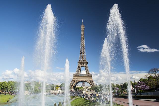 Parijs mooiste fonteinen Eiffeltoren Trocadero