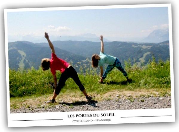 Les Portes du Soleil zomervakantie Franse Alpen yoga