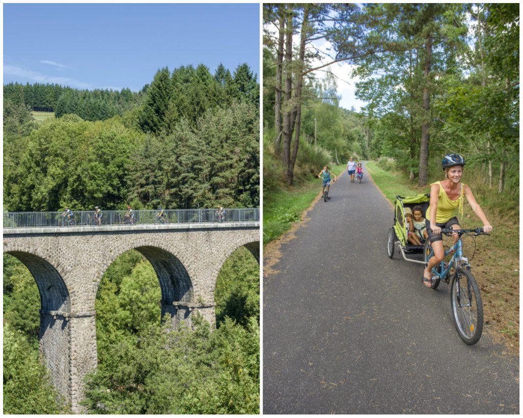 Auvergne fietsroute spoorweg Loire Rhône