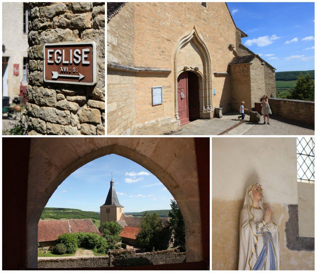 Chateauneuf Bourgogne prachtig dorpje kerk