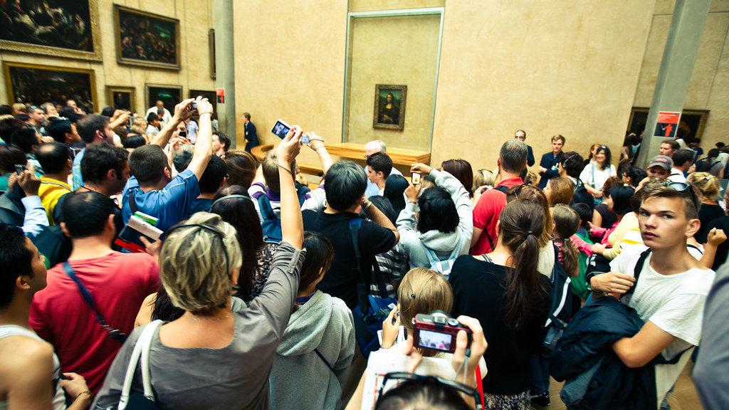 Mona Lisa Louvre drukte