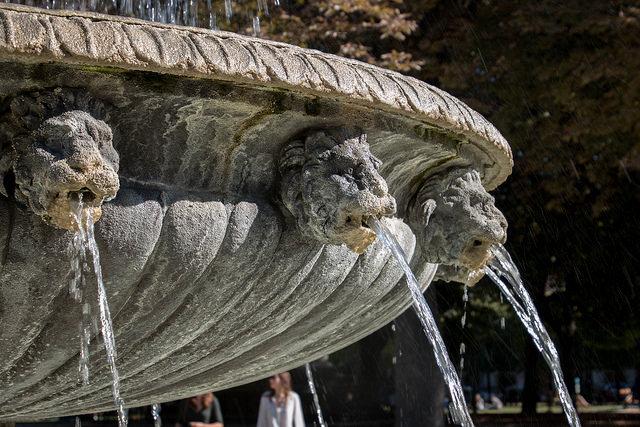 Parijs mooiste fonteinen PLace des Vosges Marais