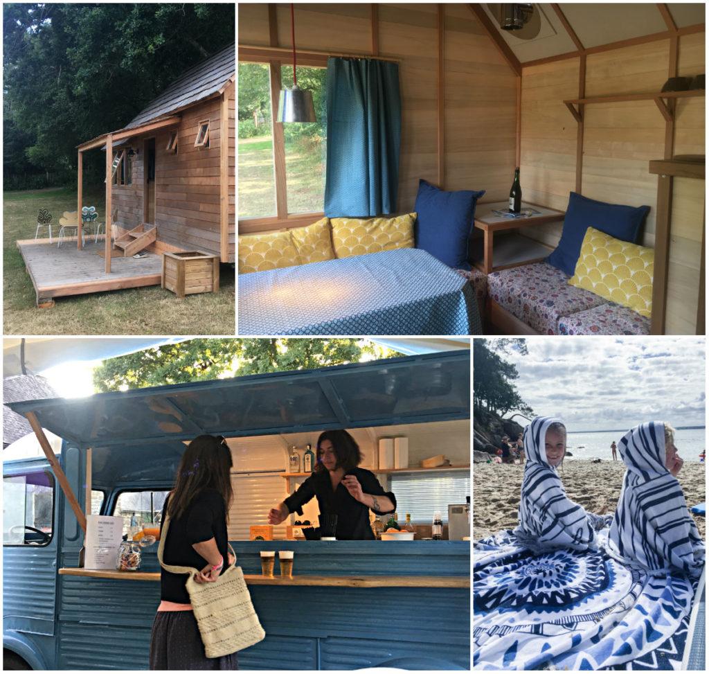 glamping bretagne cabane houten huisje foodtruck restaurant