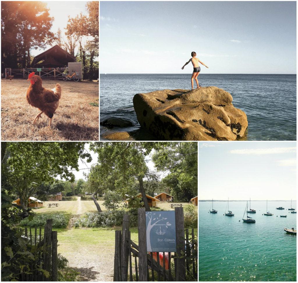Bot Conan glamping Bretagne aan strandje
