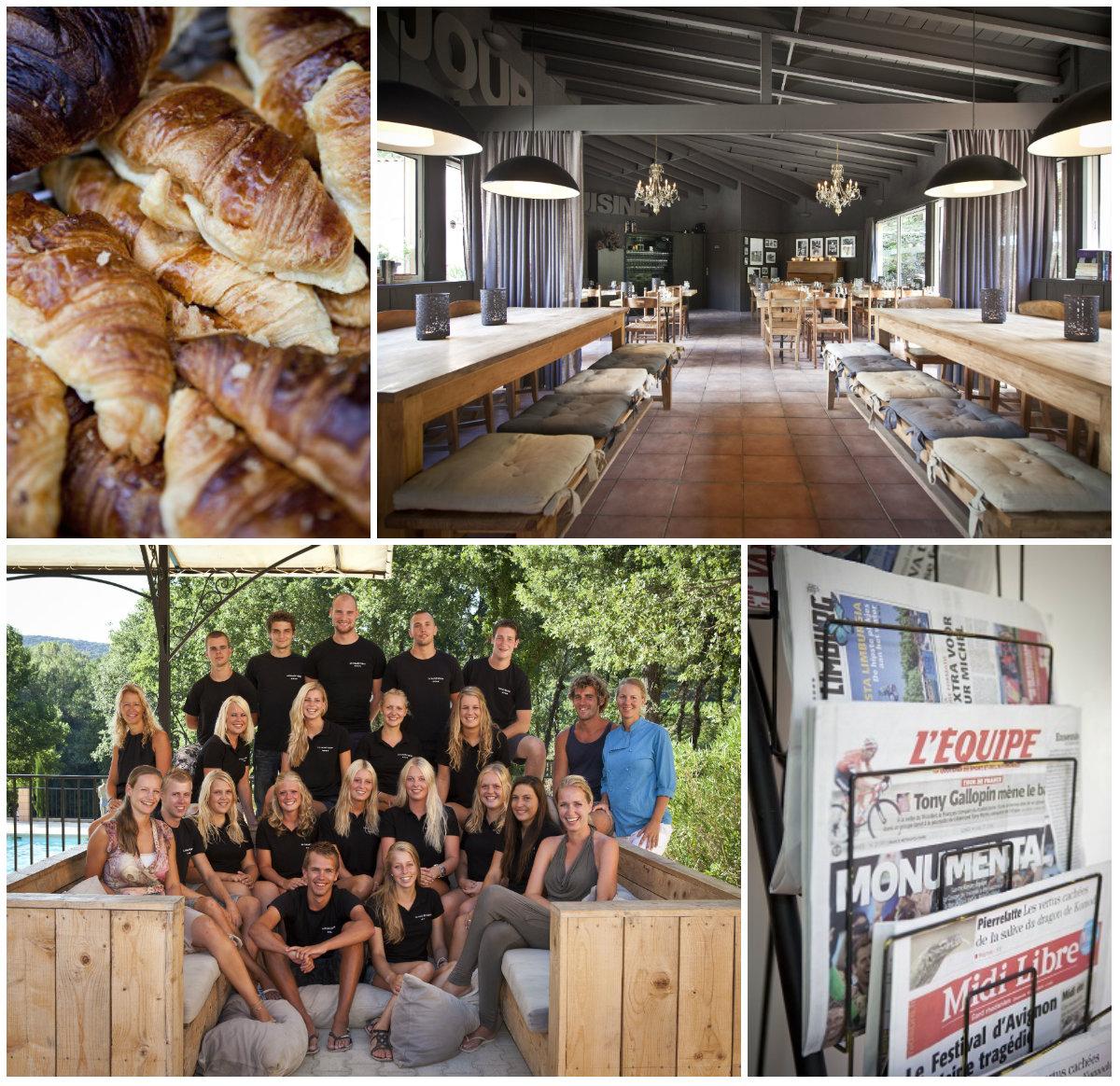 Nederlandse camping Languedoc aan riviertje team