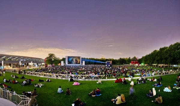 Cinema en plein air Parc de Villette