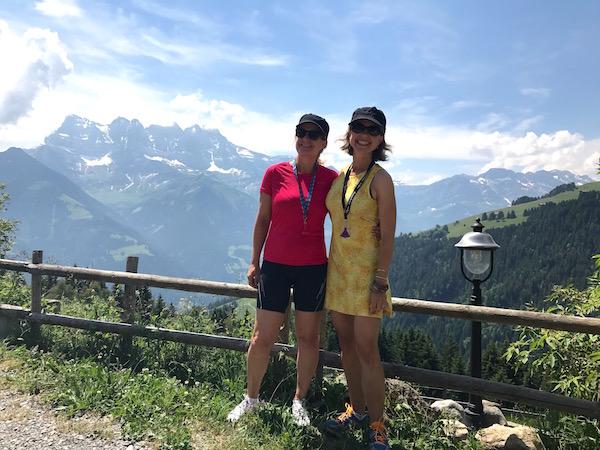Josee en Carole - Portes du Soleil in de zomer