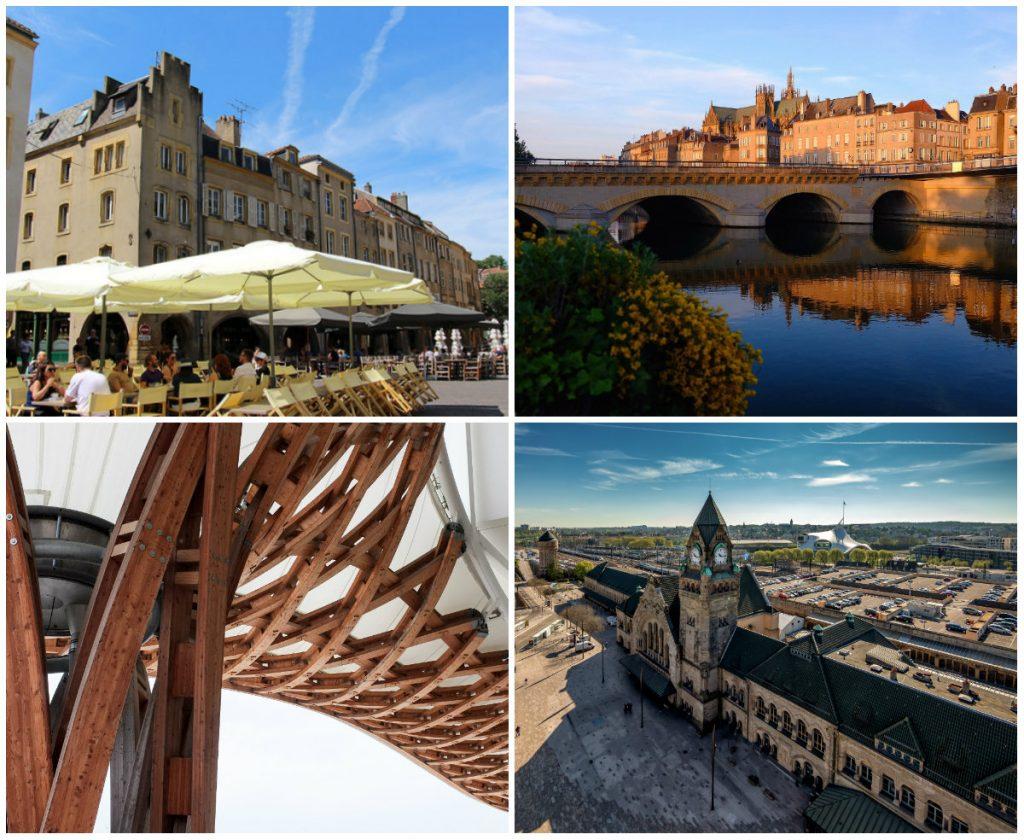 Stad Metz in de Lorraine