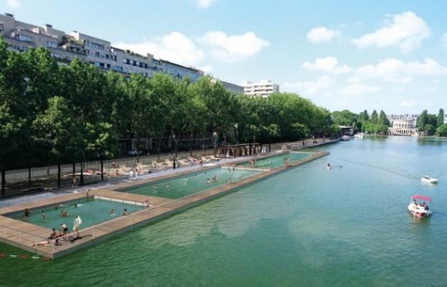 Paris Plage 2017 Seine strand zomer Bassin de la Villette zwemmen