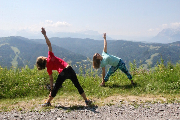 Yoga in de Franse Alpen