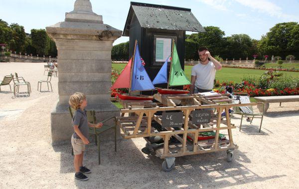 kinderen in Parijs zeilbootjes huren Jardin du Luxembourg
