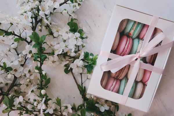 merci cadeau macarons