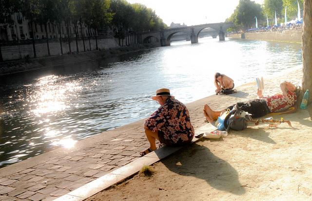 Paris Plage 2017 Seine strand zomer