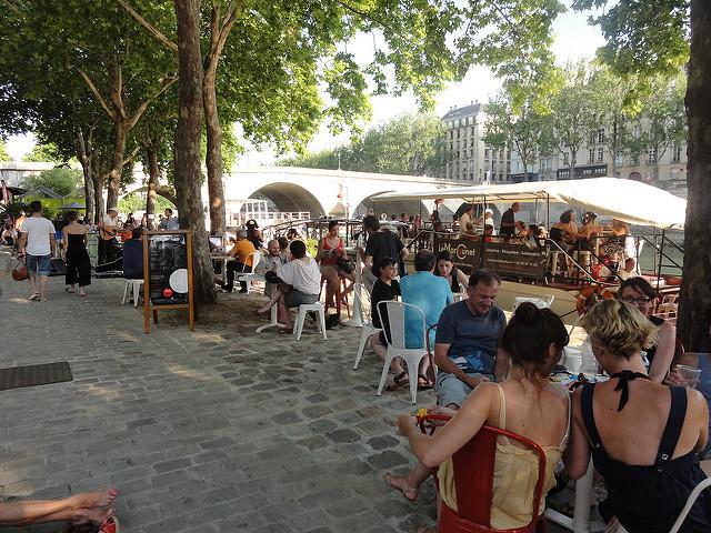 Paris Plage 2017 Seine strand zomer terras