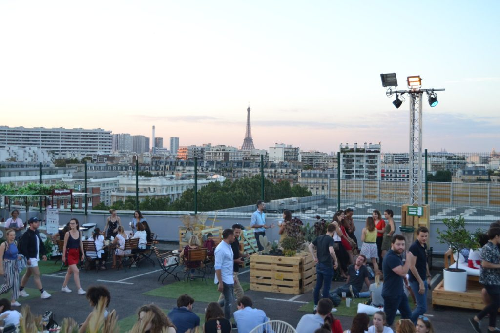 Le Jardin Susependu dakterras Parijs