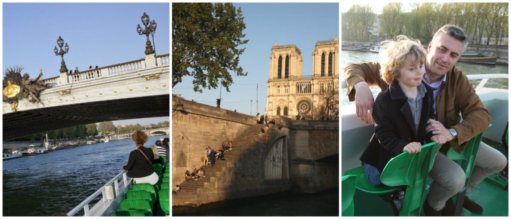 Parijs rondvaartboot met kinderen