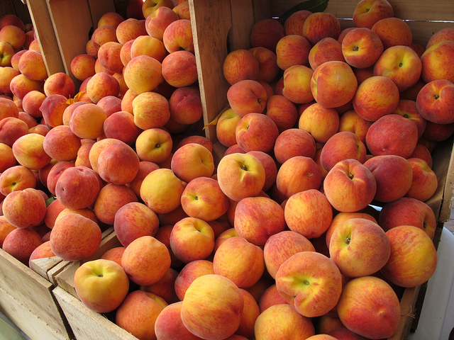 verse producten zomer markt recept perzikken