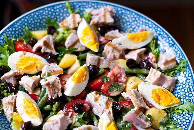verse producten zomer markt recept salade nicoise