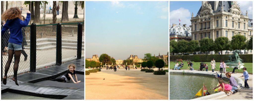 Parijs met kinderen park Tuilerieen