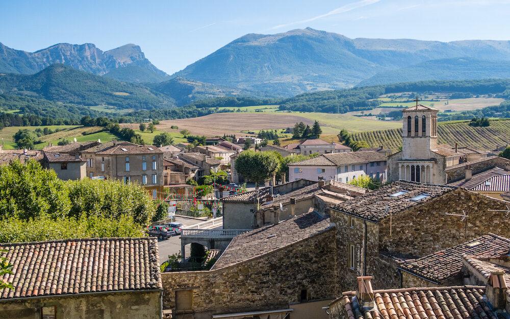 Bourdeaux middeleeuw dorp Drôme