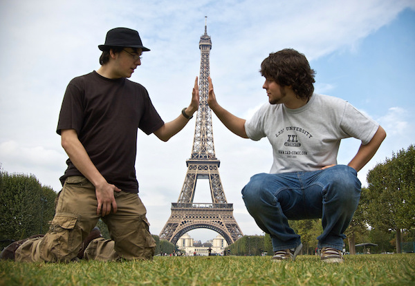 Eiffeltoren grappige selfie