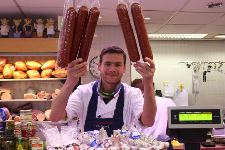 Franse adressen in Amsterdam slager Alain Bernard