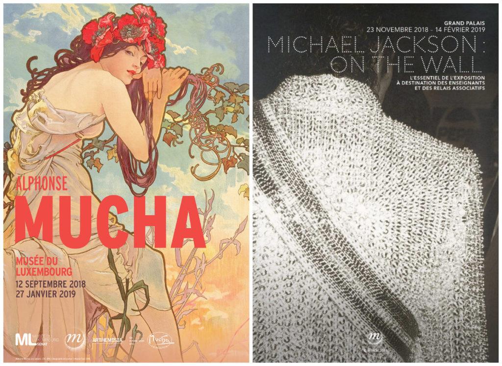 expositie Mucha en Michale Jackson in Parijs