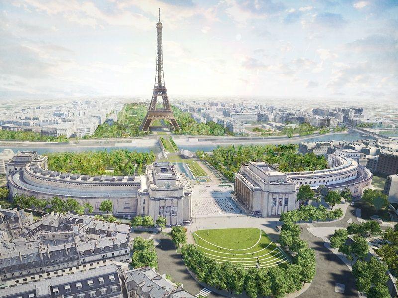 nieuw park Eiffeltoren Parijs