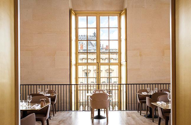 restaurant Ducasse Versailles uitzicht