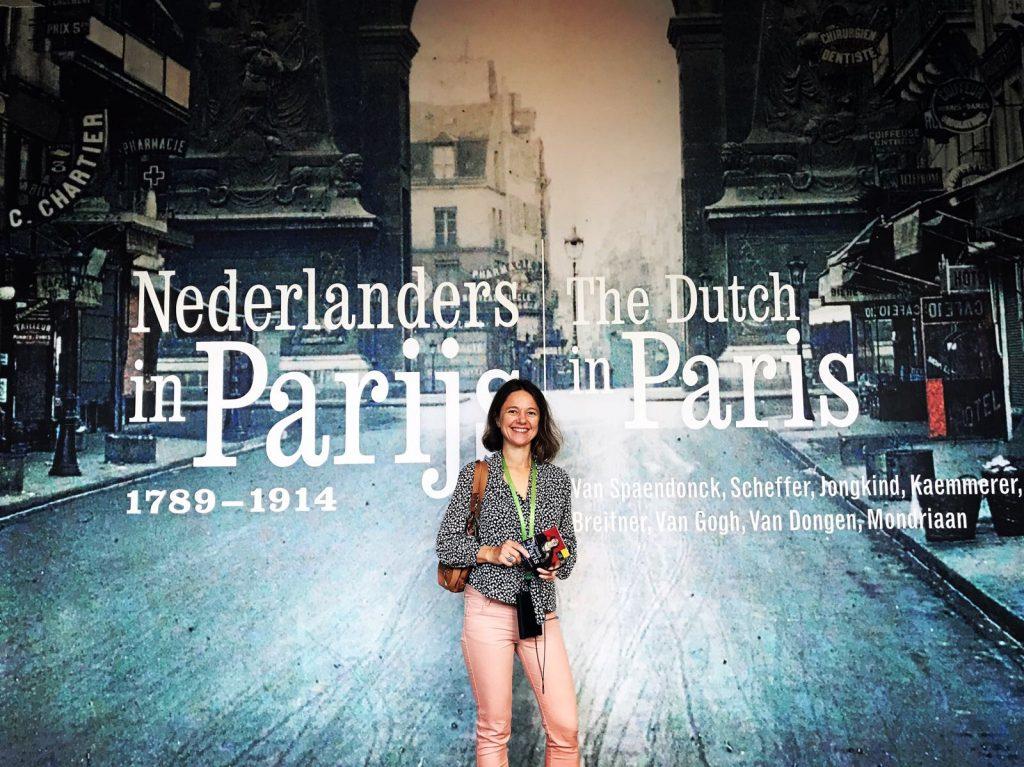 Carole bij Van Gogh Museum Amsterdam
