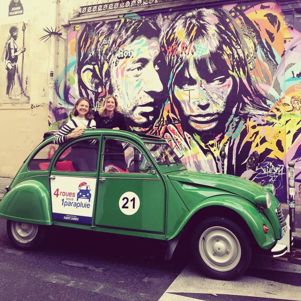 elektrische 2CV rondrit Parijs Gainsbourg forever