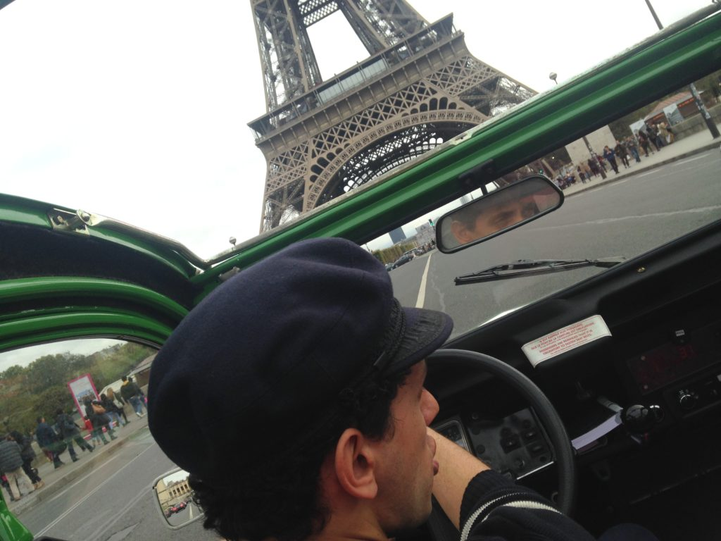 elektrische 2CV rondrit Parijs Eiffeltoren