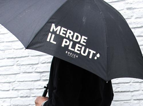 Merde il pleut paraplu