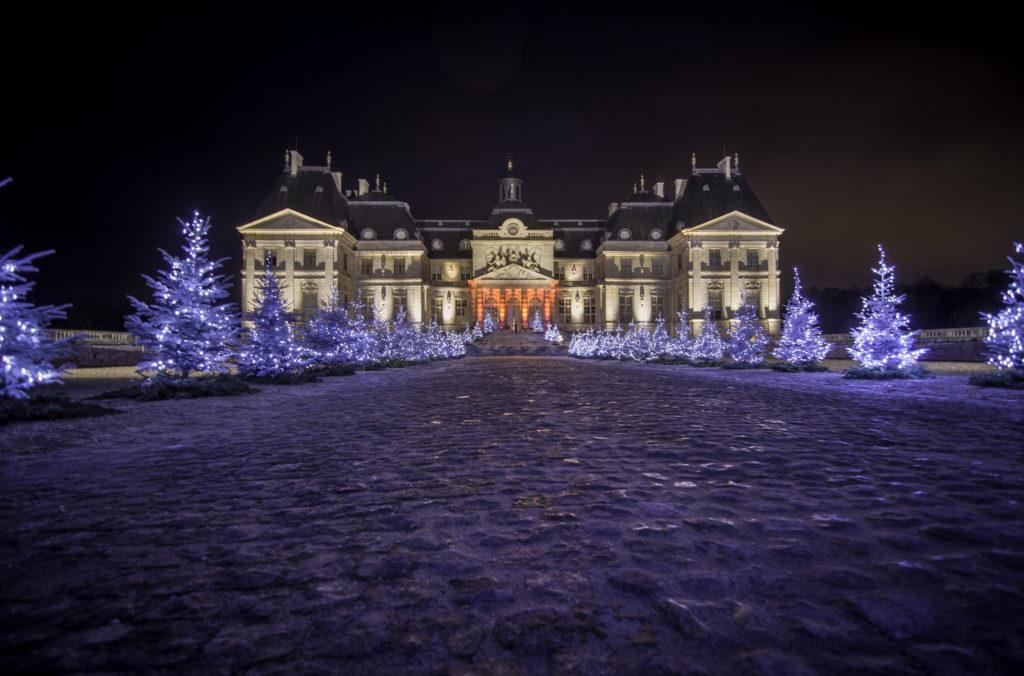 chateau de Vaux-le-Vicomte Parijs tuinen kerstversiering